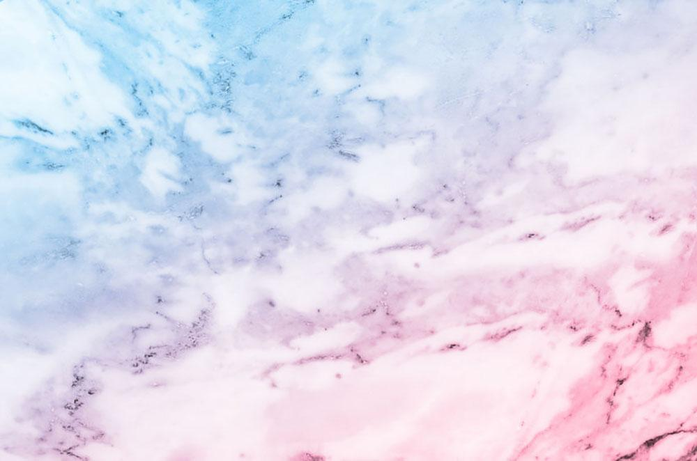 Pastel Blue And Pink Marble Wall Mural Wallpaper Canvas