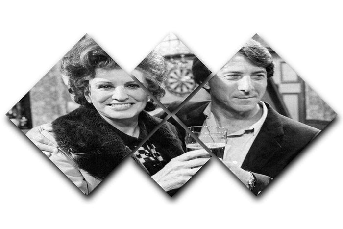 Pat Phoenix and Dustin Hoffman Rovers Return 4 Square Multi Panel Canvas