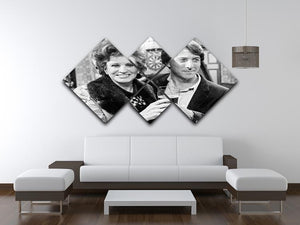 Pat Phoenix and Dustin Hoffman Rovers Return 4 Square Multi Panel Canvas  - Canvas Art Rocks - 3