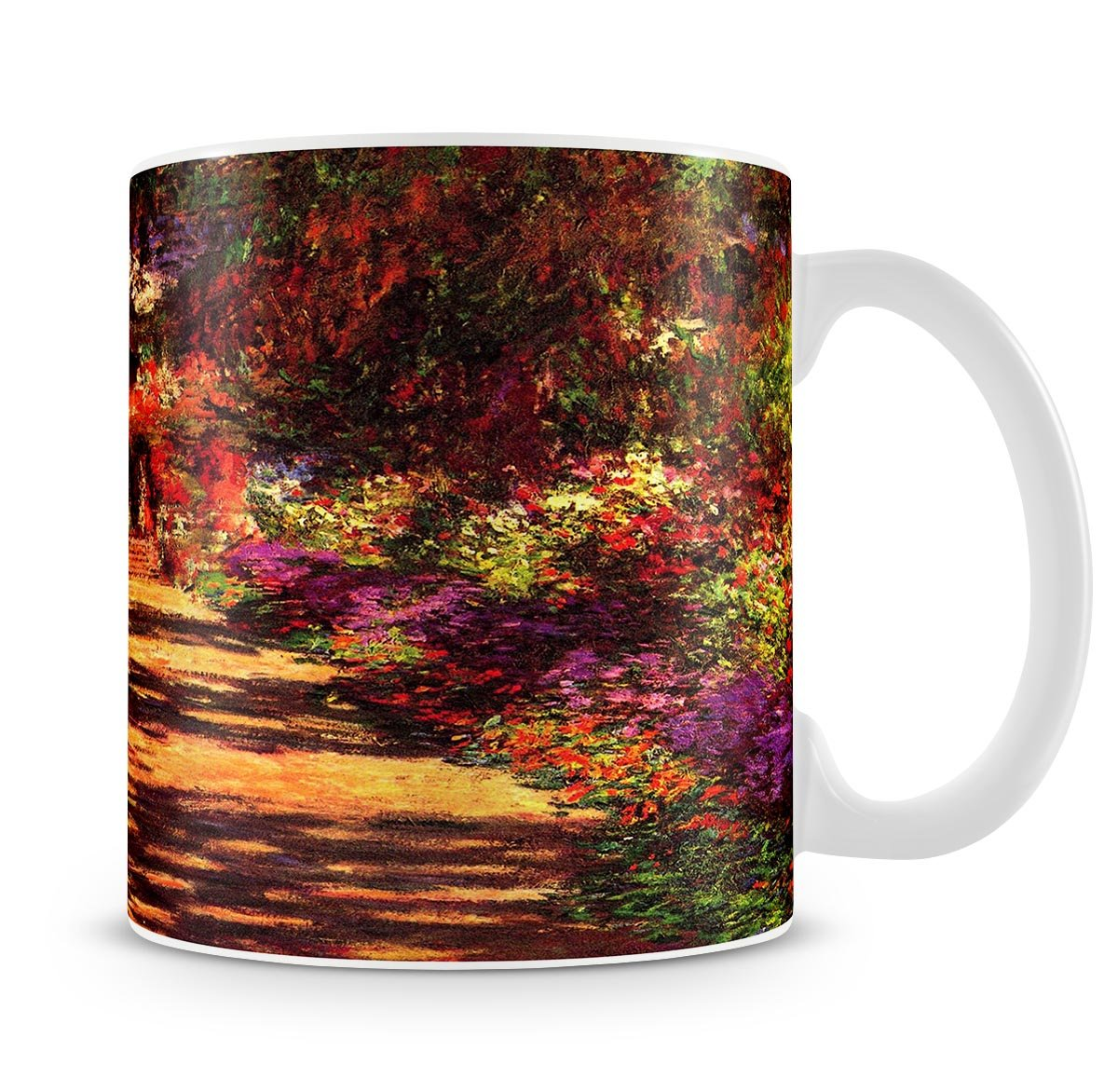 Path in Monets garden in Giverny by Monet Mug | Canvas Art Rocks