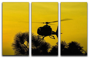 Patrol Helicopter flying in the sky 3 Split Panel Canvas Print - Canvas Art Rocks - 1