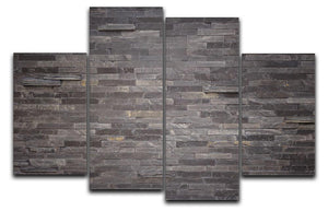 Pattern of black slate 4 Split Panel Canvas - Canvas Art Rocks - 1