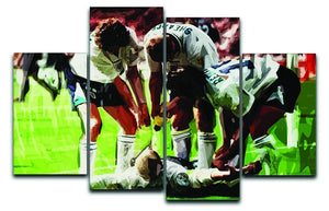 Paul Gascoigne euro 1996 4 Split Panel Canvas  - Canvas Art Rocks - 1