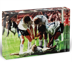 Paul Gascoigne euro 1996 Acrylic Block - Canvas Art Rocks - 1