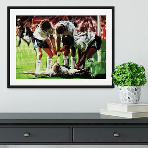 Paul Gascoigne euro 1996 Framed Print - Canvas Art Rocks - 1