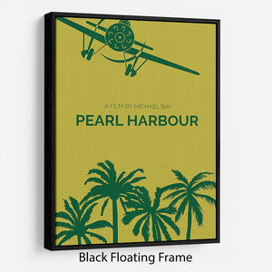Pearl Habour Minimal Movie Floating Frame Canvas - Canvas Art Rocks - 1