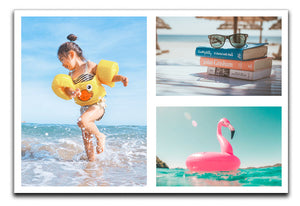 Personalised 3 Photo Collage Canvas - Landscape
