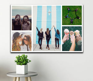 Personalised 5 Photo Collage Canvas - Landscape