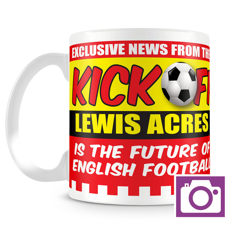 Personalised Mug - Football Kick Off