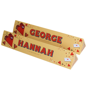 Personalised Valentine's Day Chocolate Toblerone d
