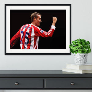 Peter Crouch Stoke City Framed Print - Canvas Art Rocks - 1