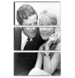 Petula Clark with husband 3 Split Panel Canvas Print - Canvas Art Rocks - 1