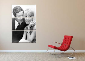 Petula Clark with husband 3 Split Panel Canvas Print - Canvas Art Rocks - 2