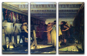 Phidias shows his friends from the Parthenon frieze detail by Alma Tadema 3 Split Panel Canvas Print - Canvas Art Rocks - 1