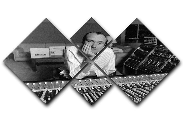 Phil Collins in the studio 4 Square Multi Panel Canvas