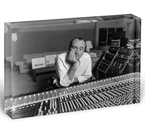 Phil Collins in the studio Acrylic Block - Canvas Art Rocks - 1