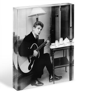 Phil Everley takes tea Acrylic Block - Canvas Art Rocks - 1