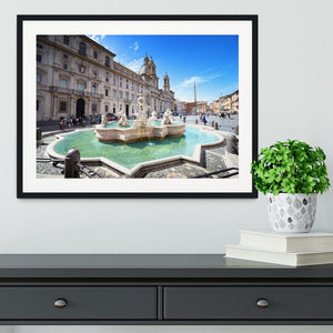 Piazza Navona Framed Print - Canvas Art Rocks - 1