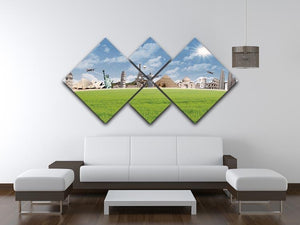 Picture of different landmarks 4 Square Multi Panel Canvas  - Canvas Art Rocks - 3