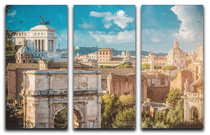 Picturesque View of the Roman Forum 3 Split Panel Canvas Print - Canvas Art Rocks - 1