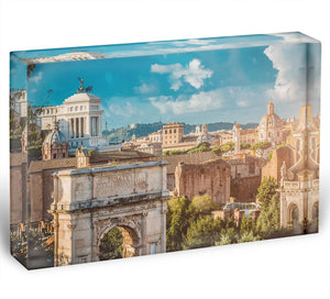 Picturesque View of the Roman Forum Acrylic Block - Canvas Art Rocks - 1