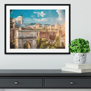 Picturesque View of the Roman Forum Framed Print - Canvas Art Rocks - 1