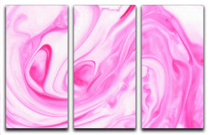 Pink Abstract Swirl 3 Split Panel Canvas Print - Canvas Art Rocks - 1