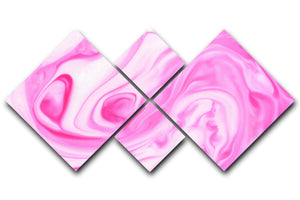 Pink Abstract Swirl 4 Square Multi Panel Canvas - Canvas Art Rocks - 1