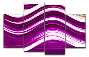 Pink Wave 4 Split Panel Canvas - Canvas Art Rocks - 1