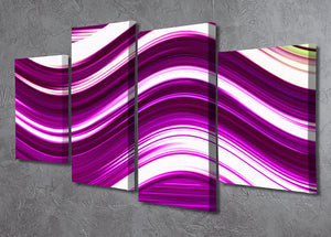 Pink Wave 4 Split Panel Canvas - Canvas Art Rocks - 2