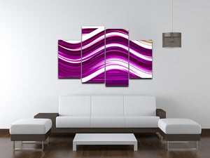 Pink Wave 4 Split Panel Canvas - Canvas Art Rocks - 3