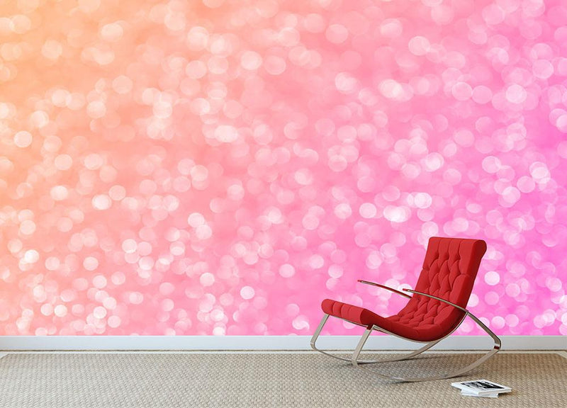 Pink glitter christmas abstract Wall Mural Wallpaper - Canvas Art Rocks - 1
