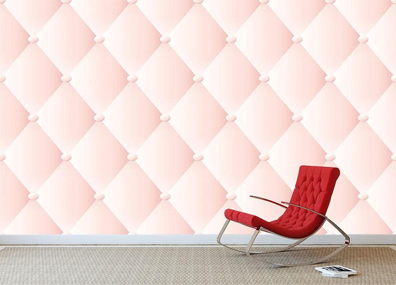 Pink upholstery vector abstract Wall Mural Wallpaper - Canvas Art Rocks - 1