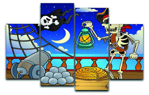 Pirate ship deck theme 6 4 Split Panel Canvas  - Canvas Art Rocks - 1