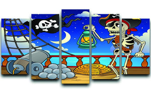 Pirate ship deck theme 6 5 Split Panel Canvas  - Canvas Art Rocks - 1