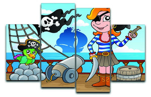 Pirate ship deck theme 8 4 Split Panel Canvas  - Canvas Art Rocks - 1