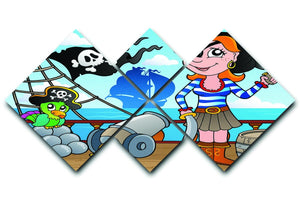 Pirate ship deck theme 8 4 Square Multi Panel Canvas  - Canvas Art Rocks - 1