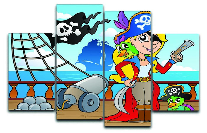 Pirate ship deck theme 9 4 Split Panel Canvas