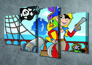 Pirate ship deck theme 9 4 Split Panel Canvas - Canvas Art Rocks - 2