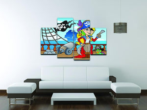 Pirate ship deck theme 9 4 Split Panel Canvas - Canvas Art Rocks - 3