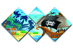 Pirate ship topic image 5 4 Square Multi Panel Canvas  - Canvas Art Rocks - 1