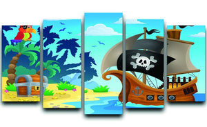 Pirate ship topic image 5 5 Split Panel Canvas  - Canvas Art Rocks - 1