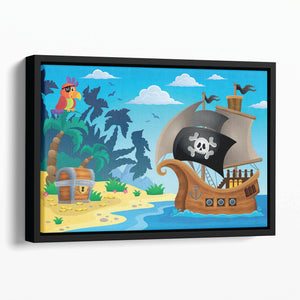 Pirate ship topic image 5 Floating Framed Canvas