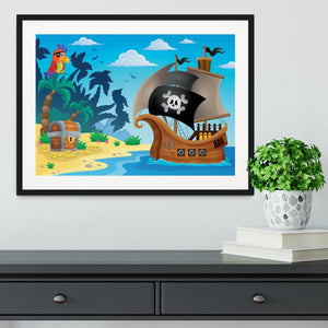Pirate ship topic image 5 Framed Print - Canvas Art Rocks - 1