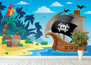Pirate ship topic image 5 Wall Mural Wallpaper - Canvas Art Rocks - 4