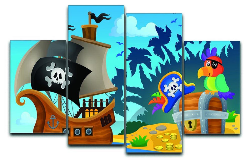 Pirate ship topic image 6 4 Split Panel Canvas  - Canvas Art Rocks - 1