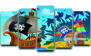 Pirate ship topic image 6 5 Split Panel Canvas  - Canvas Art Rocks - 1
