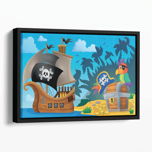 Pirate ship topic image 6 Floating Framed Canvas