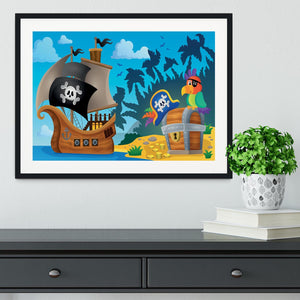 Pirate ship topic image 6 Framed Print - Canvas Art Rocks - 1