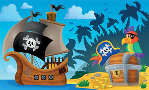 Pirate ship topic image 6 Wall Mural Wallpaper - Canvas Art Rocks - 1